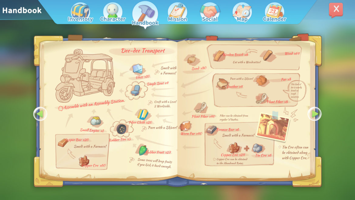 Game: My Time at Portia - Screenshot Handbook