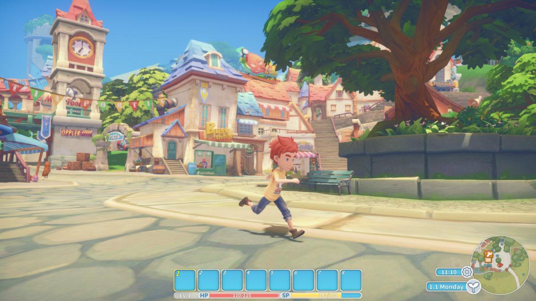Game: My Time at Portia - Screenshot Town Run