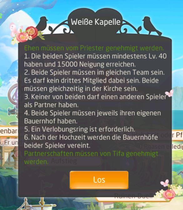 Game: Tales of Wind - Screenshot Weiße Kapelle Hochzeit